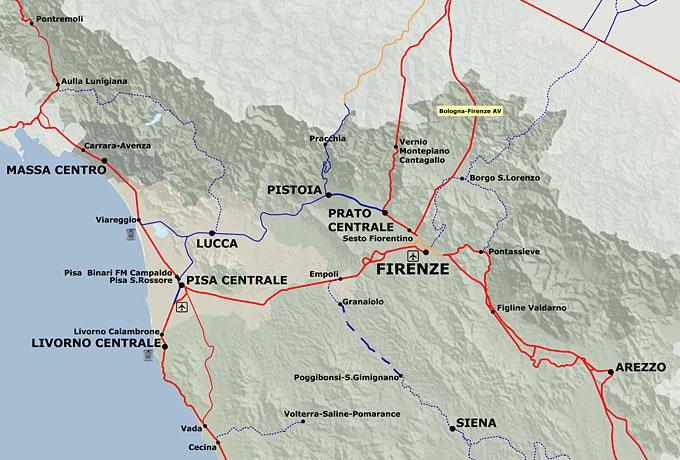 イタリア鉄道路線図 - 旅行のとも、ZenTech