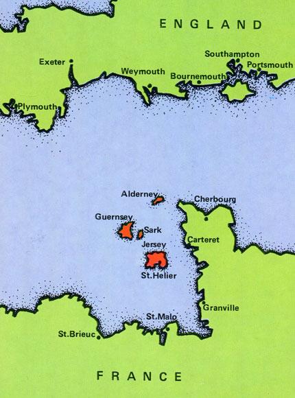 英仏海峡 チャンネル諸島の地形図: 地図と鉄道のブログ